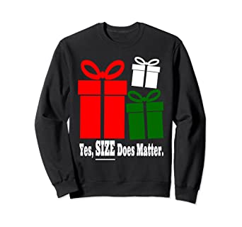 yes size does matter ugly dirty christmas sweater gift - Dirty Christmas Sweater