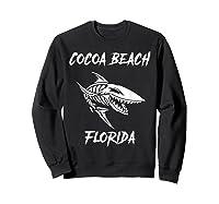 Cocoa Beach Shark Skeleton T Shirt Sweatshirt Black