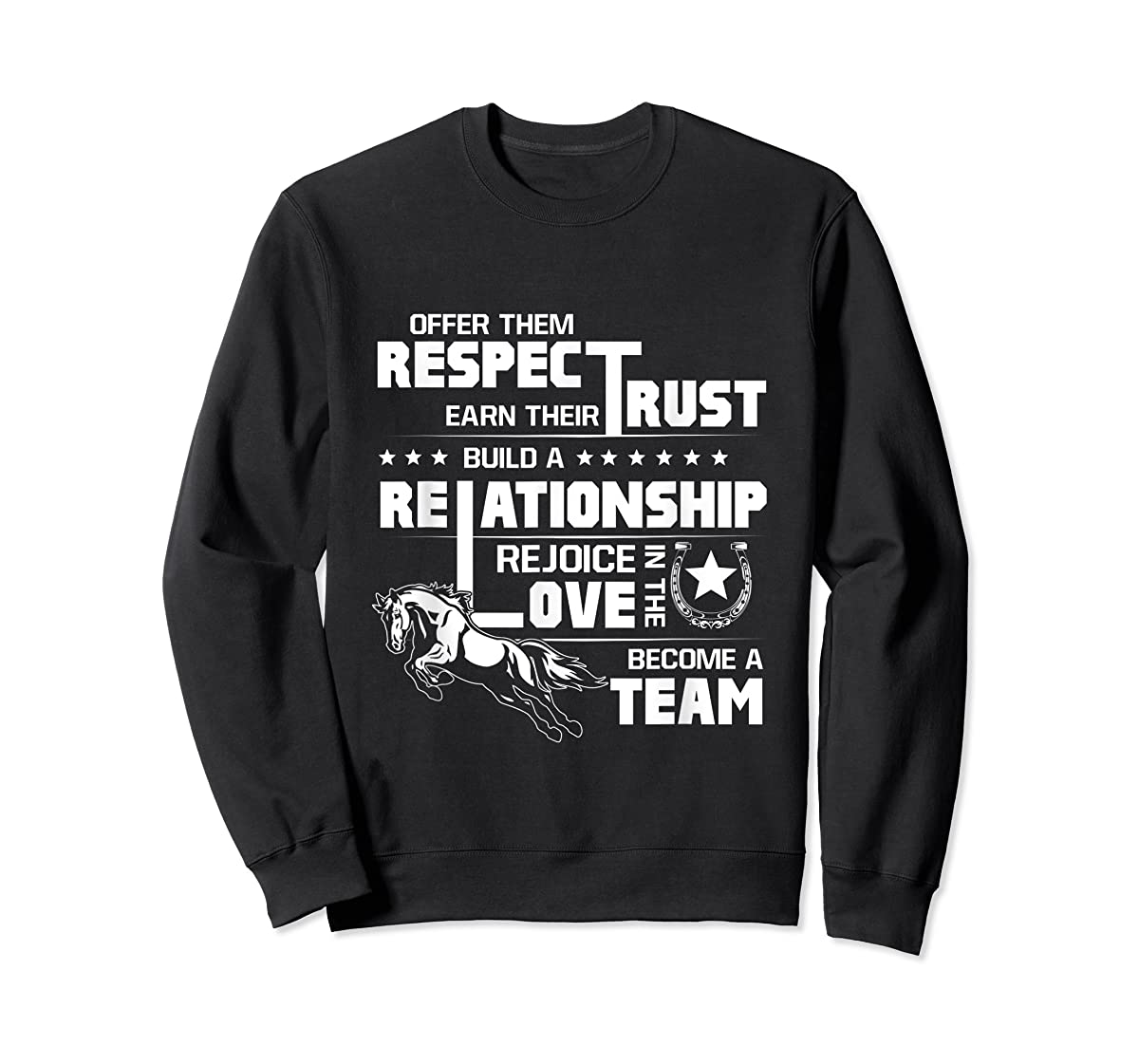 Cool Horse T-shirt with great quote for equestrian lover tee-Sweatshirt-Black