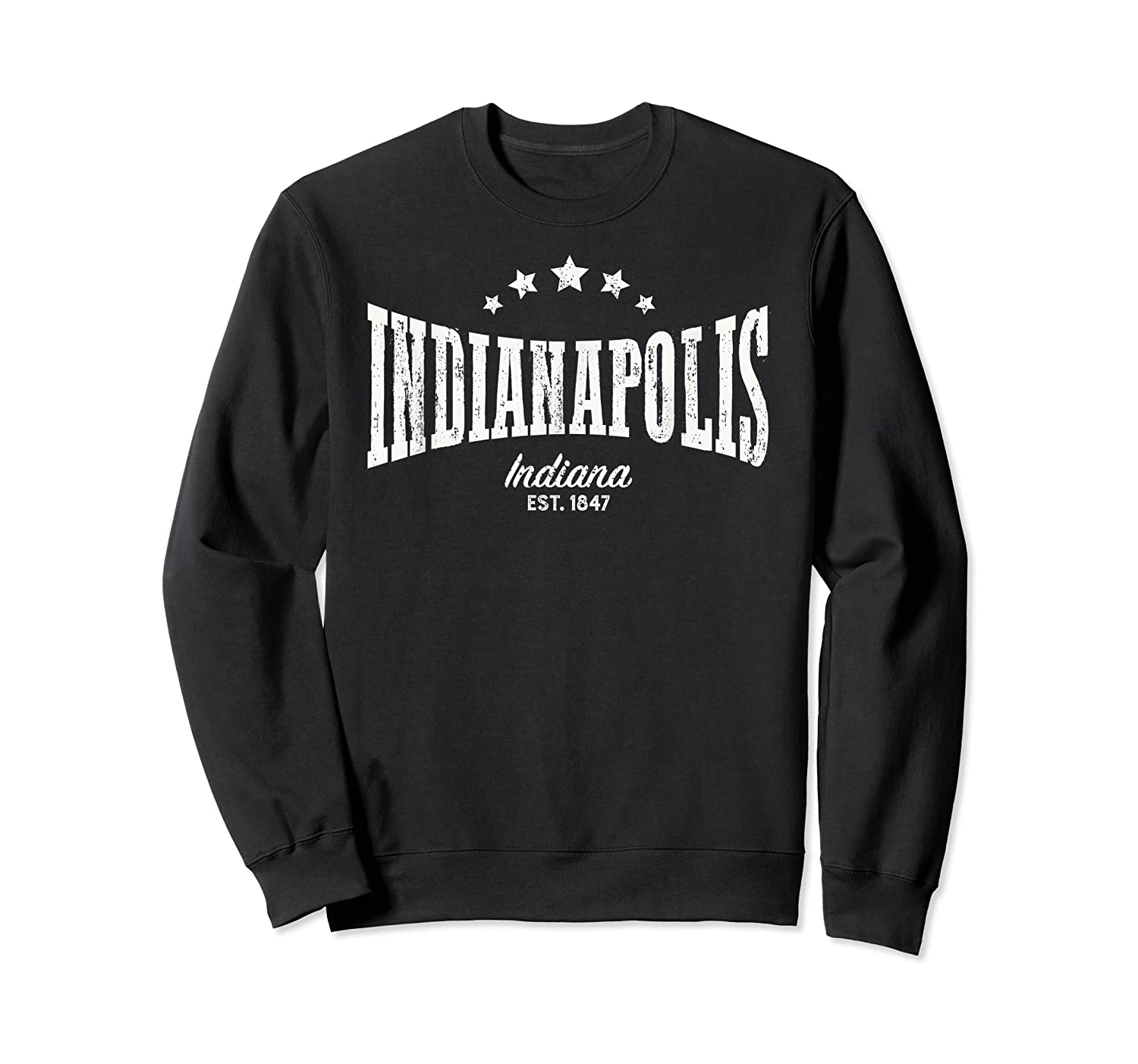 Indianapolis In Shirt Distressed Vintage Home City Pride Crewneck Sweater