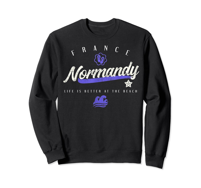 Normandy France Beach T Shirt Crewneck Sweater