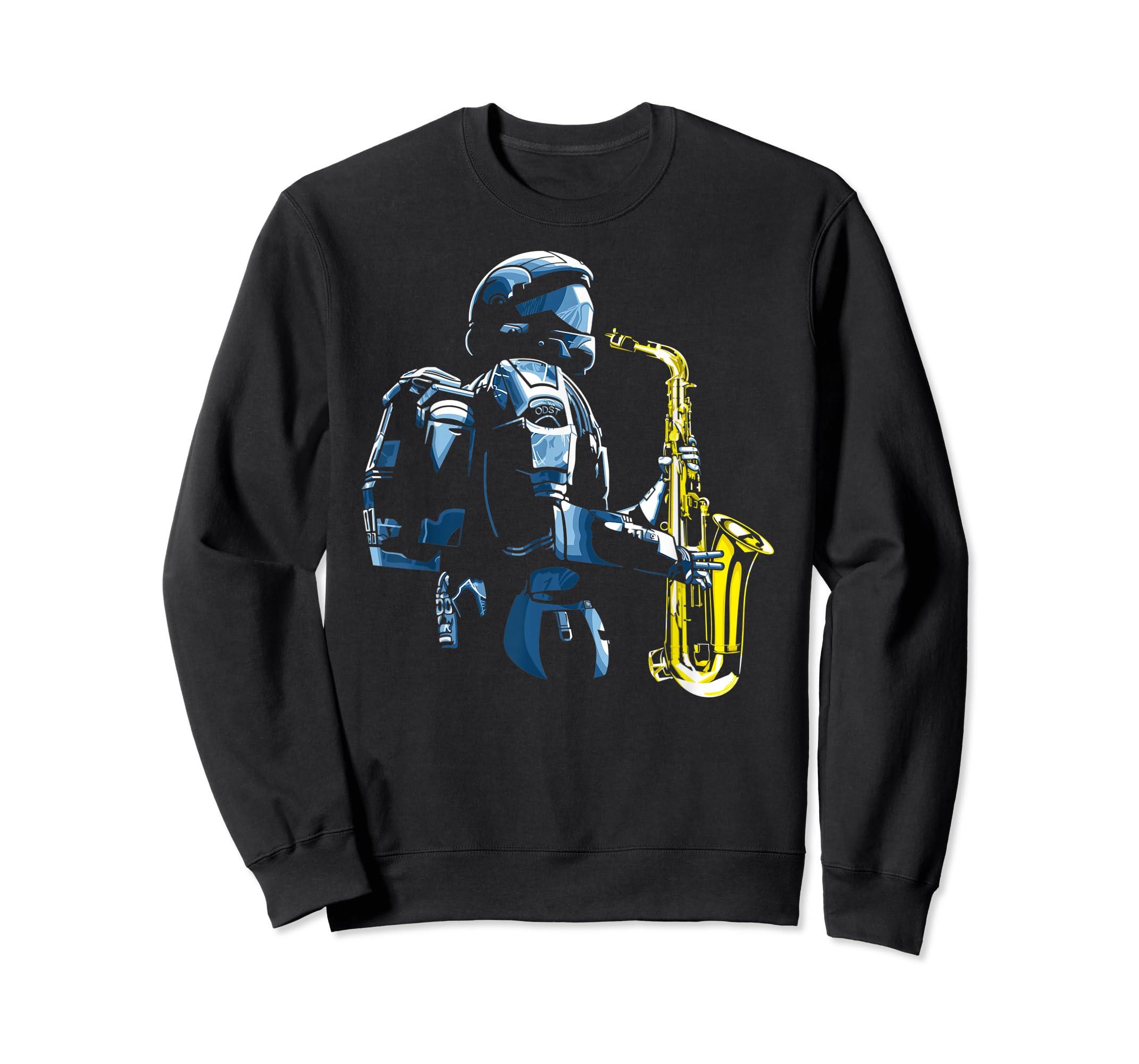 Halo ODST Jazz T-Shirt-Sweatshirt-Black