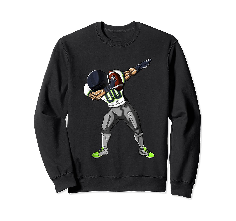 Football Dabbing T Shirt Funny Gray Navy Neon Green  Crewneck Sweater