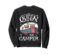 Queen Of The Camper Outdoor Camping Camper Girls Shirts Sweatshirt Black