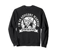 Addisons Hooded Warrior T-shirt- Addisons Disease Awareness Sweatshirt Black