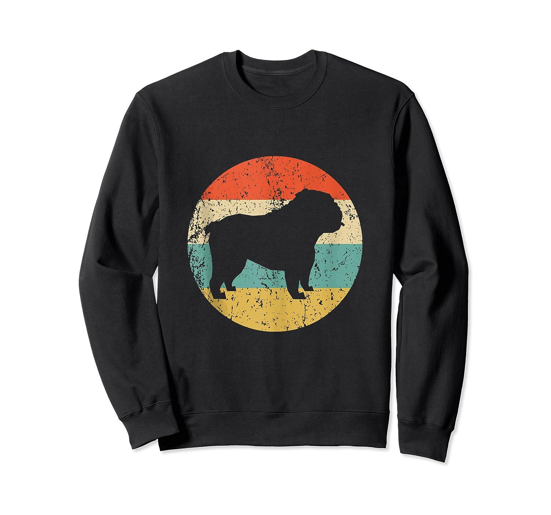 English Bulldog Retro English Bulldog Dog Shirts Crewneck Sweater