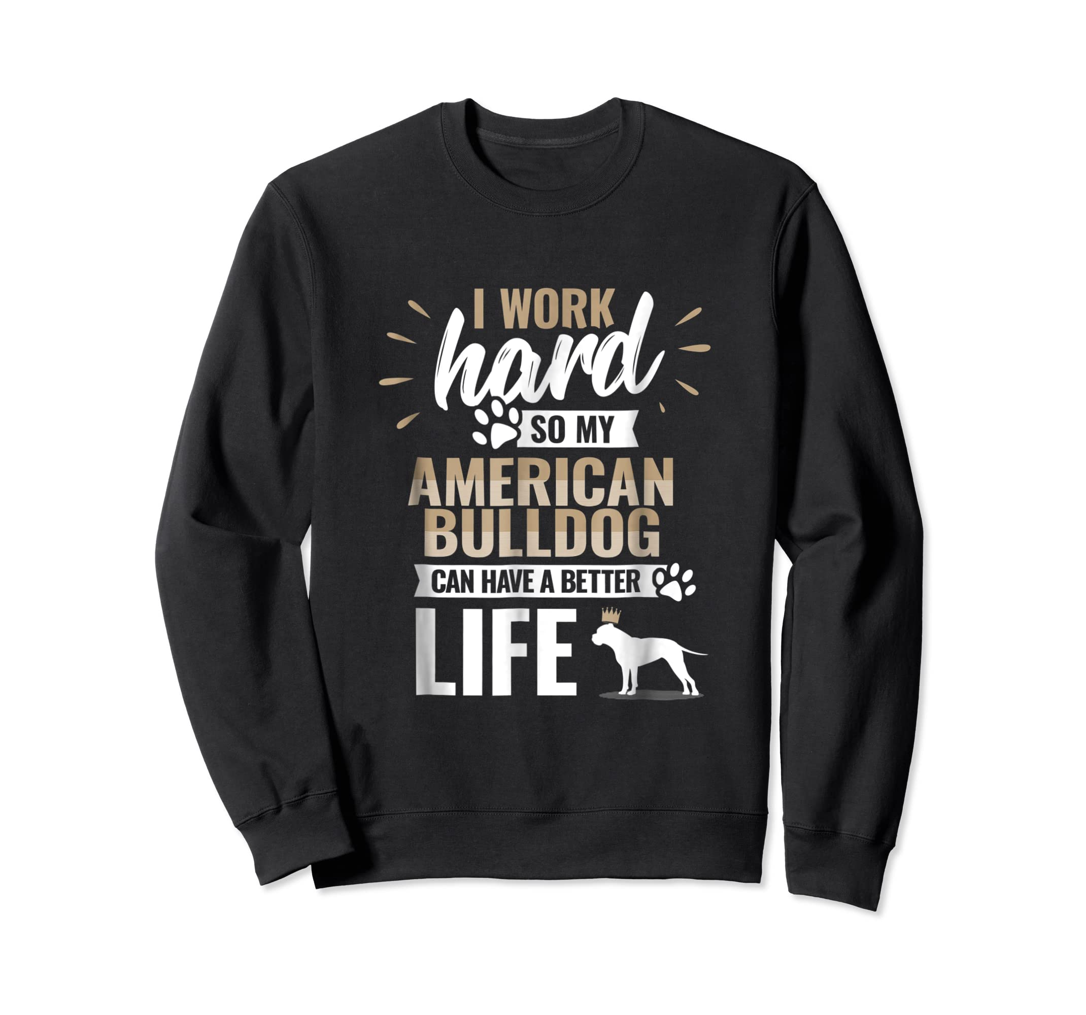 Cool Dog T-Shirt American Bulldog Owner Gift-Sweatshirt-Black