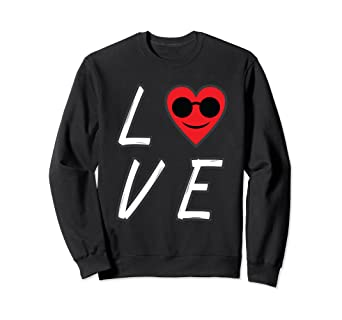 33d2a2ba2b Amazon.com  Love Heart Emoji With Sunglasses Valentines Day ...