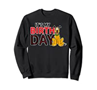 Disney Pluto My Birthday T Shirt Sweatshirt Black