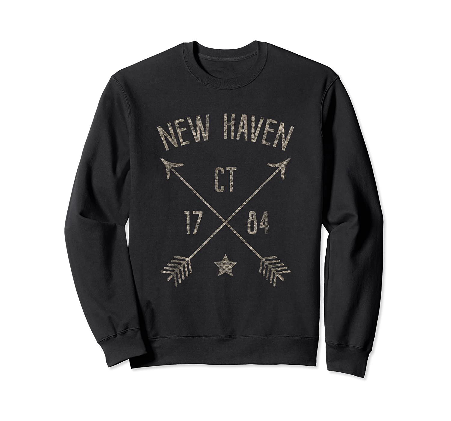 New Haven Ct T Shirt Cool Vintage Retro Style Home City Crewneck Sweater