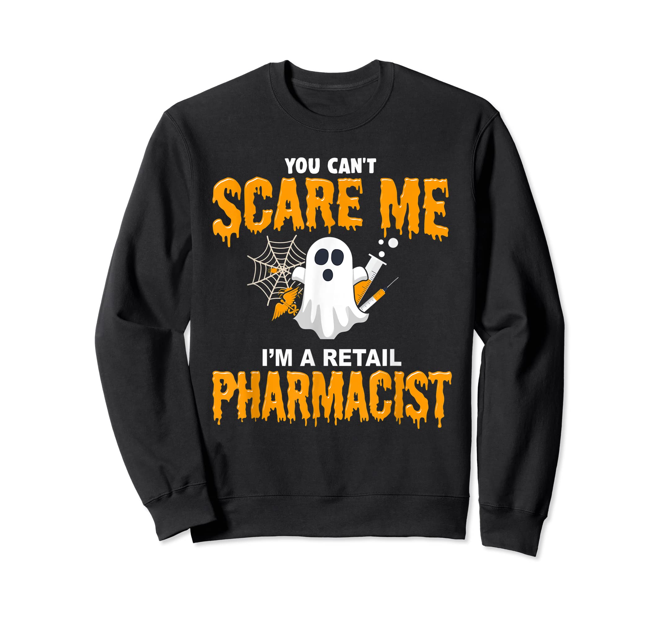 Halloween Costume Shirt I'm A Retail Pharmacist  T-Shirt-Sweatshirt-Black