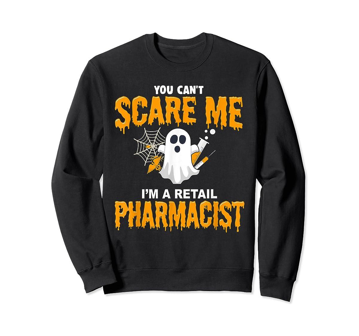 Halloween Costume Shirt I'm A Retail Pharmacist  T-Shirt-Sweatshirt-Black