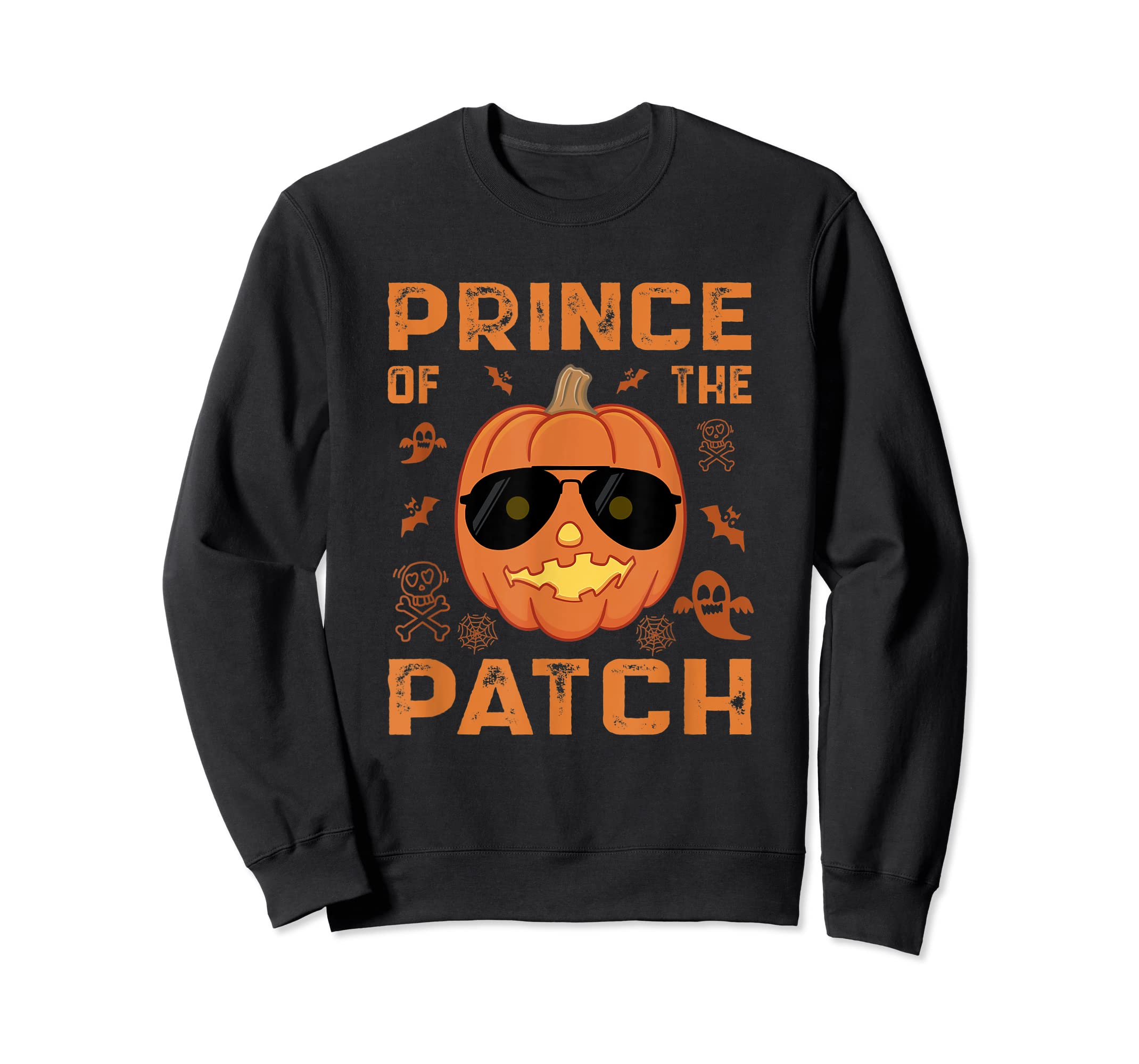 Pumpkin Prince of the Patch Group Family Halloween Costume T-Shirt-Sweatshirt-Black