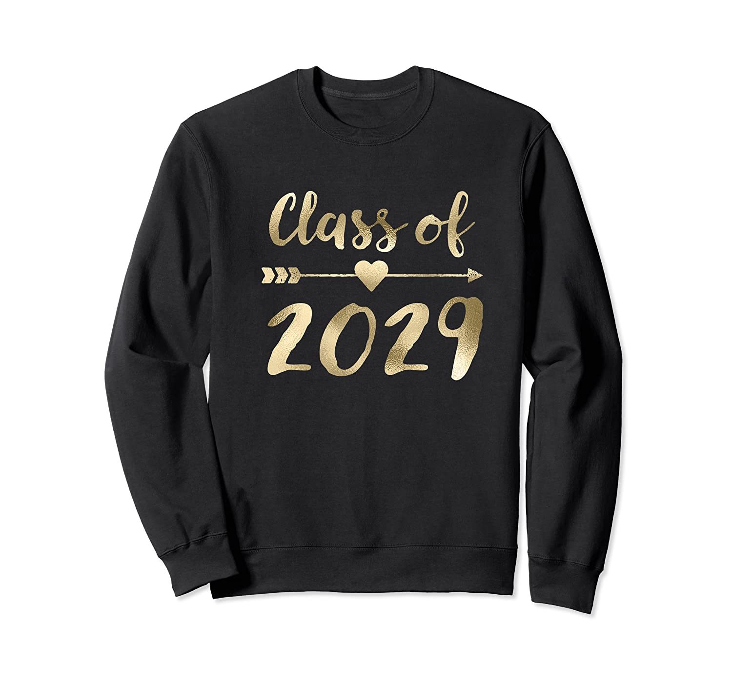 Class Of 2029 Grow With Me First Day Of School Gold Shirts Crewneck Sweater