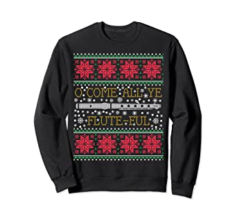 Band Ugly Christmas Sweaters.Amazon Com Funny Flute Marching Band Ugly Christmas