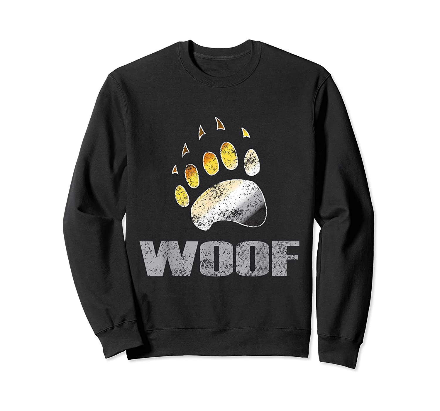 Bear Pride Woof Bear Claw Symbol Distressed For Shirts Crewneck Sweater