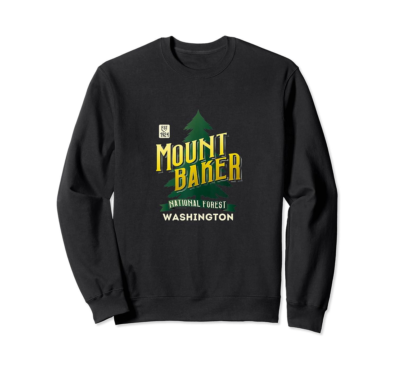 Mount Baker National Forest Retro Logo Washington Tank Top Shirts Crewneck Sweater