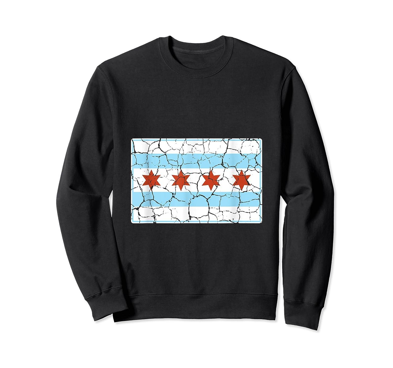 Chicago City Flag Shirt Illinois Retro Vintage Crewneck Sweater