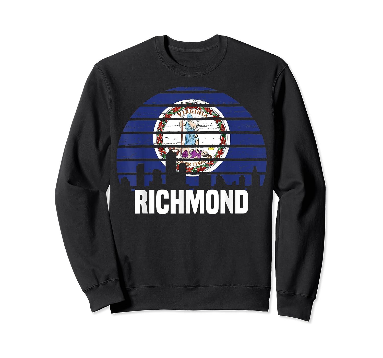 Richmond Virginia T Shirt Va Group City Trip Silhouette Flag Crewneck Sweater