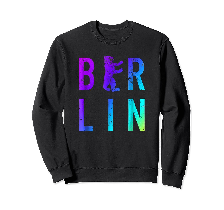 Berlin Germany City Bear Colorful Souvenir T Shirt Crewneck Sweater
