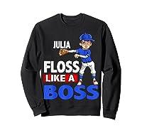 Baseball Shirt Custom Name Julia Birthday  Sweatshirt Black