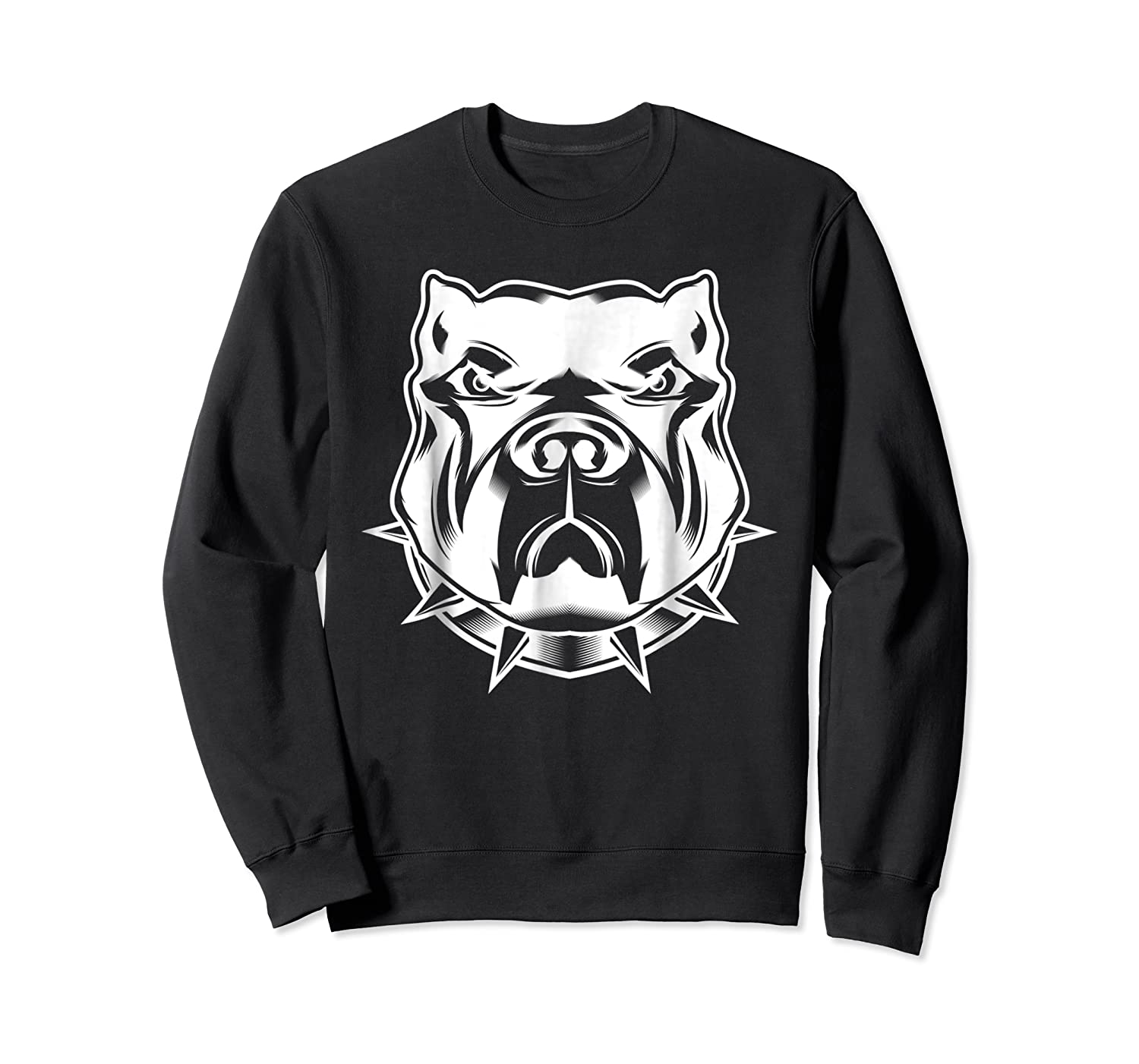 Pit Bull Face T For Pitbull And Apbt Lovers Shirts Crewneck Sweater