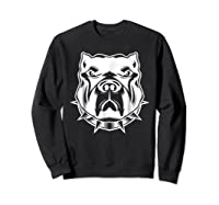 Pit Bull Face T For Pitbull And Apbt Lovers Shirts Sweatshirt Black