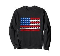 Goldendoodle 4th Of July Usa American Flag Patriotic Dog Shirts Sweatshirt Black