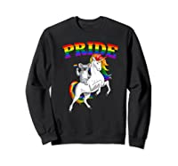 Koala Bear Unicorn Gay Pride Rainbow Q Cute Gift Shirts Sweatshirt Black