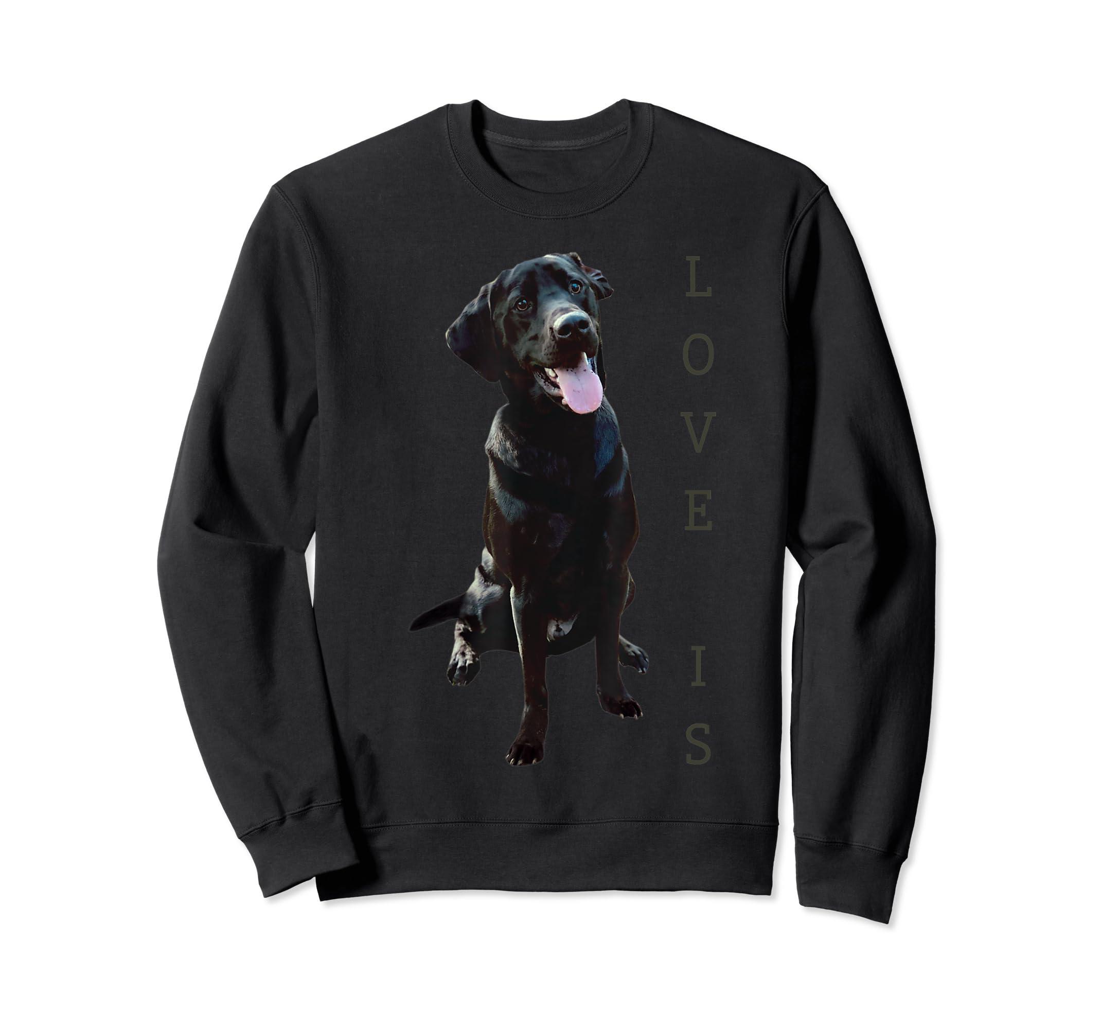 Labrador Retriever Shirt Women Men Kids Black Lab Dog Mom-Sweatshirt-Black