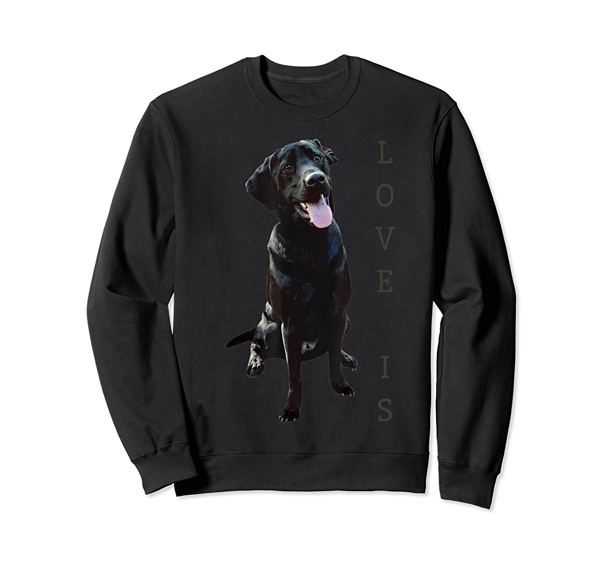 Labrador Retriever Shirt Women Men Kids Black Lab Dog Mom-Sweatshirt-Black