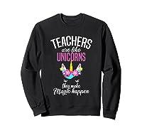 Teas Are Like Unicorns Tea Appreciation Gift Shirts Sweatshirt Black