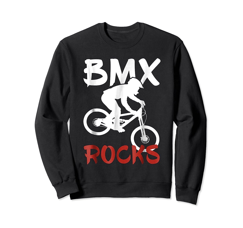 Bmx Riding Rocks T Shirt Cool Dirt Bike Race Stunt Gift Tees Crewneck Sweater