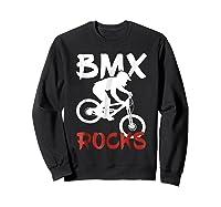 Bmx Riding Rocks T Shirt Cool Dirt Bike Race Stunt Gift Tees Sweatshirt Black