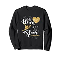 My Heart Is On The Floor Gymnast Mom Gif #gymmom Shirts Sweatshirt Black
