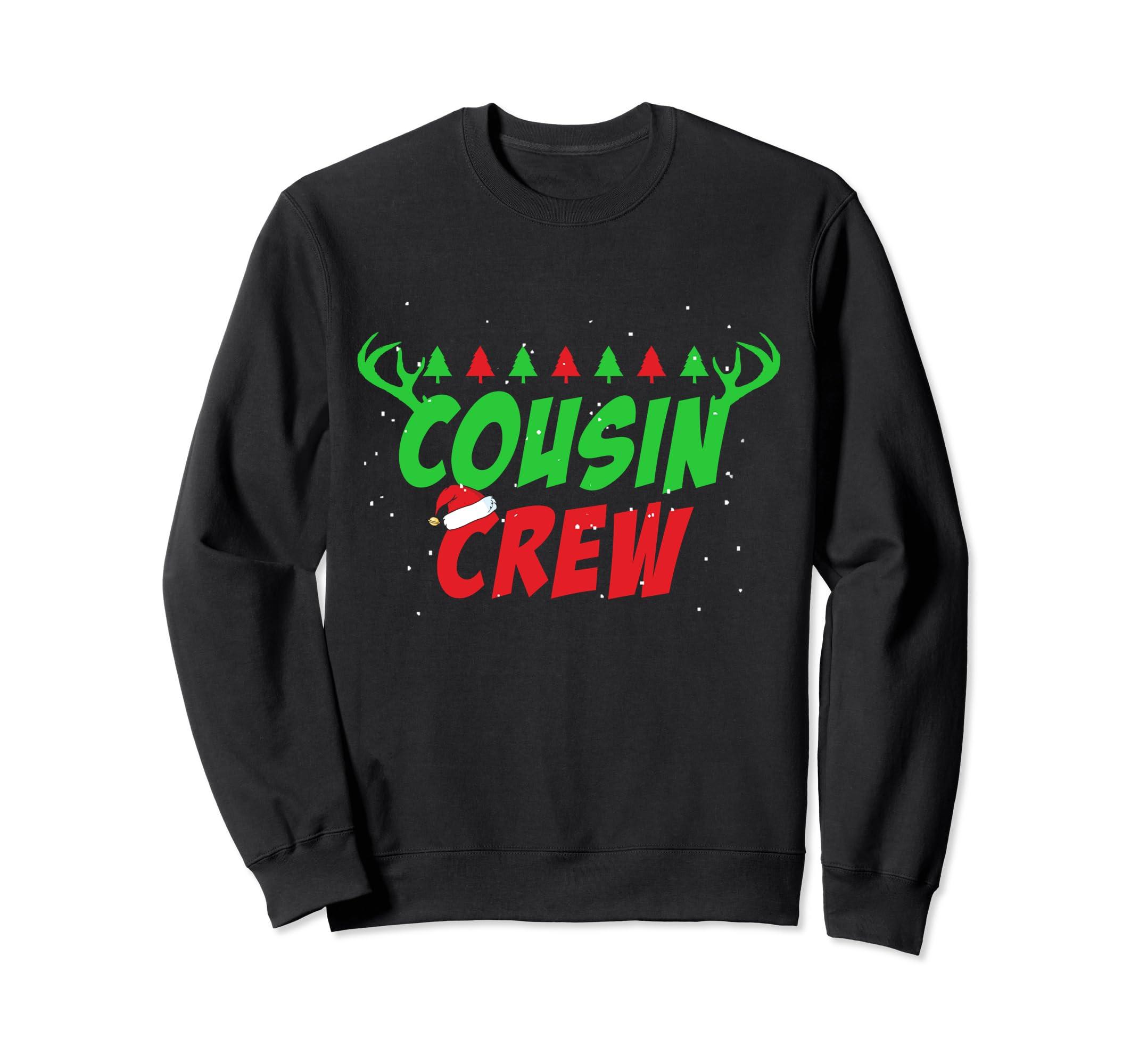 Cousin Crew ELF Sweatshirt Gift Family Matching Christmas Ug-SFL