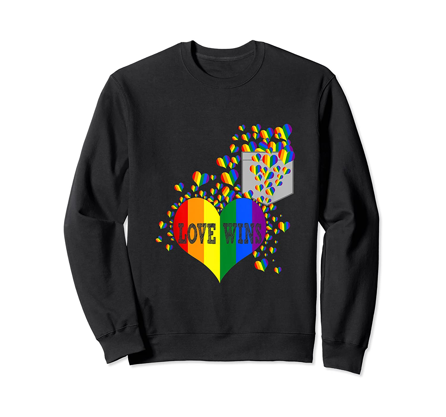 Love Wins Lgbtq Color Heart Pride Month Rally Shirt Tank Top Crewneck Sweater