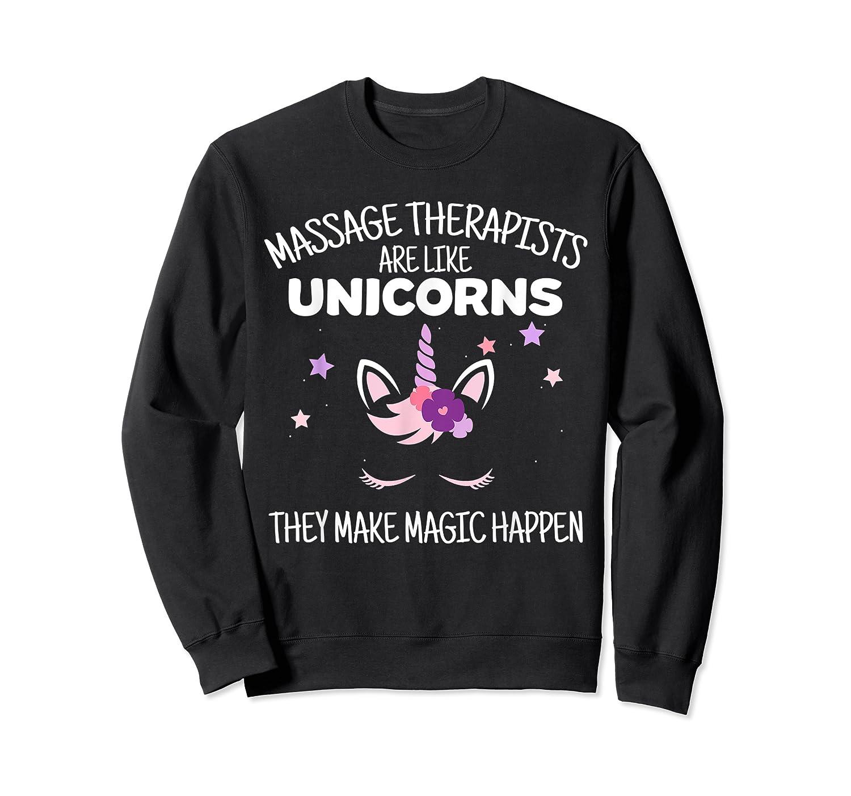 Funny Massage Therapist Unicorn For Gift Shirts Crewneck Sweater
