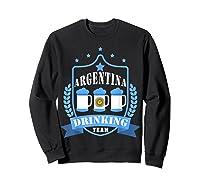 Beer Argentina Drinking Team Casual Argentina Flag T-shirt Sweatshirt Black