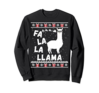 Amazoncom Llama Ugly Christmas Sweatshirt Sweater Gift Men Women
