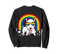Bull Terrier Dog Gay Pride Rainbow Q Cute Gift Shirts Sweatshirt Black
