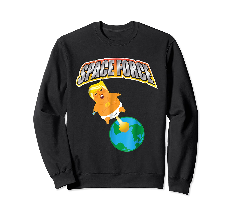 Anti Space Force Funny Donald Trump Gift Shirts Crewneck Sweater