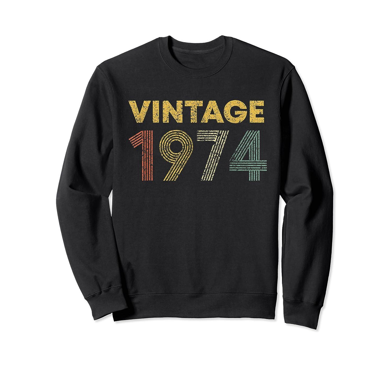 45th Birthday Gift Idea Vintage 1974 Shirts Crewneck Sweater