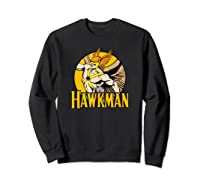 Justice League Hawkman Circle T Shirt Sweatshirt Black