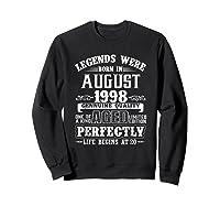 August 1998 20th Birthday Gift Shirt 20 Years Old  Sweatshirt Black
