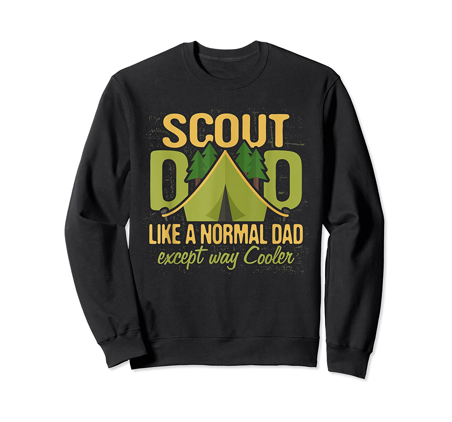 Scout Dad Cub Leader Boy Camping Scouting Gift Shirts Crewneck Sweater