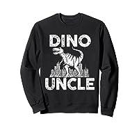 Dino-uncle Dinosaur Family Matching T-shirts Sweatshirt Black
