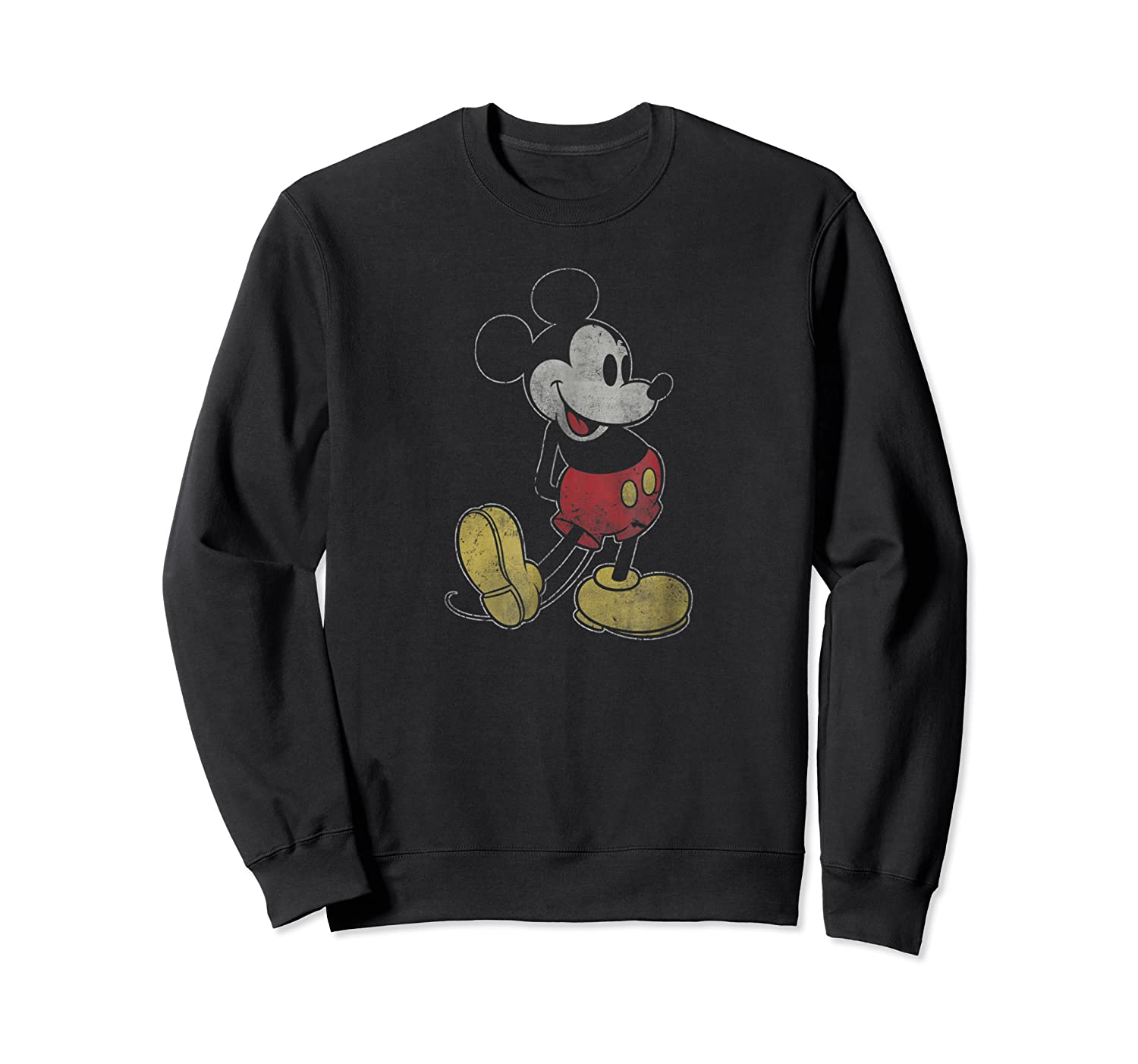 Disney Mickey Mouse Outline T Shirt Crewneck Sweater