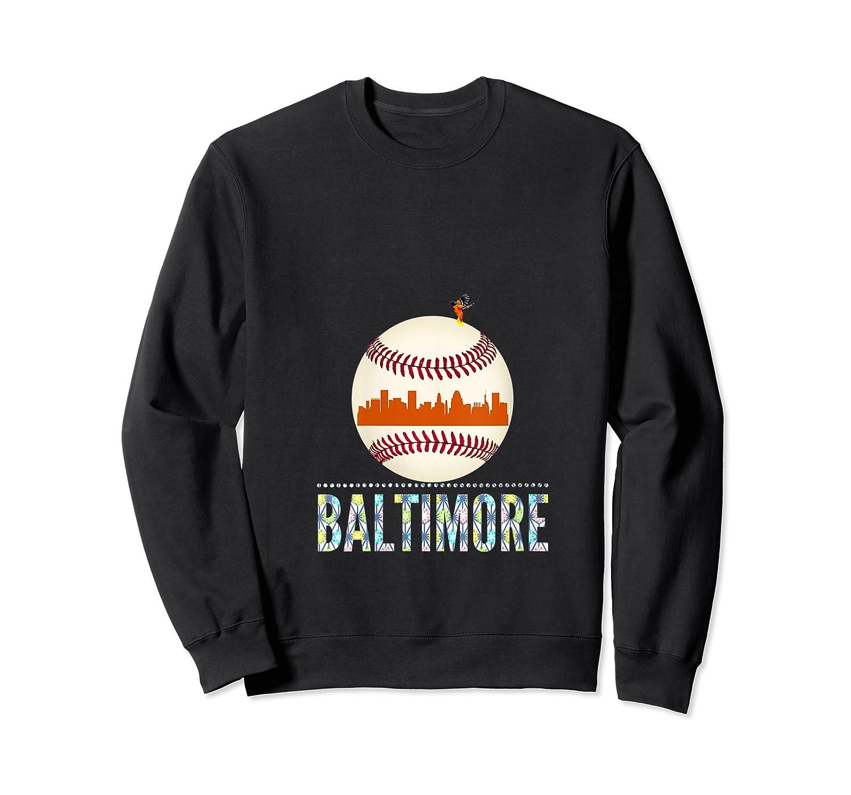 Baltimore Oriole Baseball Hometown Skyline Design Shirts Crewneck Sweater