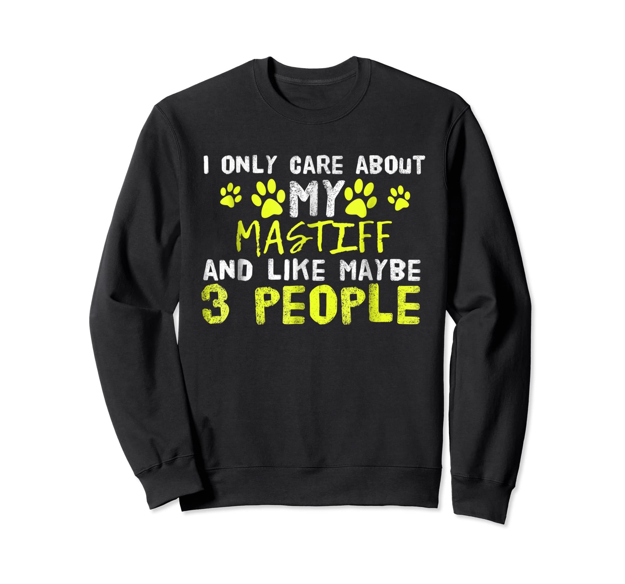 Mastiff Dog Shirt Introvert Love My Dog Tee-Sweatshirt-Black